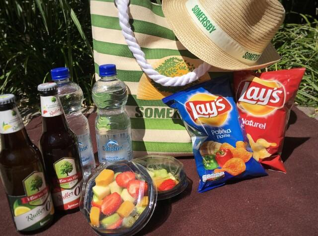 Snack strandtas voor onderweg