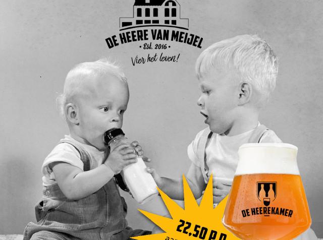 Legerjeep en High Bier Bottle Share